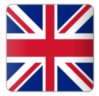 English Language Flag logo